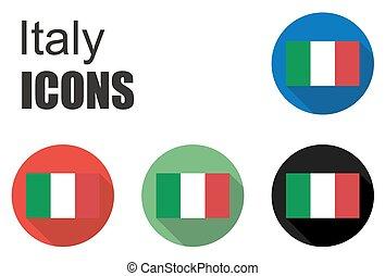 set italy icons
