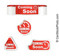 set of coming soon sticker
