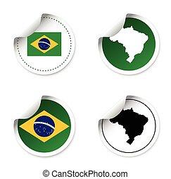 set of stickers - brazil