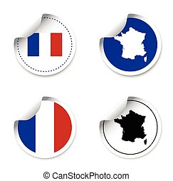 set of stickers - france