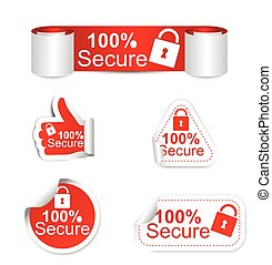 set of stickers - secure