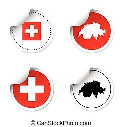 set of stickers - switzerland