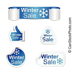 set of stickers - winter sale