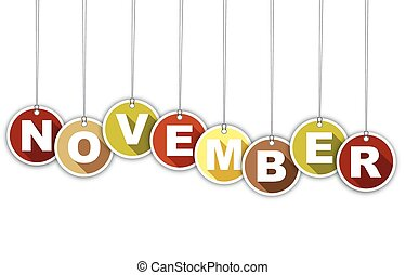 month november stock illustration images 13 000 month november rh canstockphoto com november clipart calendar november clipart calendar