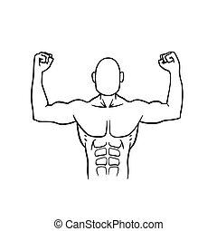 athlete - This is the illustration of an athlete