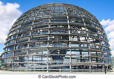 Reichstag - This is the new cupola of the Reichstag in...