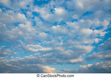 sky floating autumn clouds