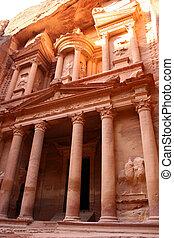 treasury in rock city Petra