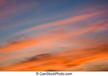 This is twilight sky or evening sky which is the time of sunset. It's pleasant to look at when relaxing in the evening