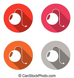 vector set colorful flat icons bomb