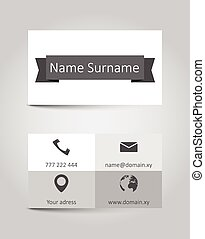 vector template retro business card