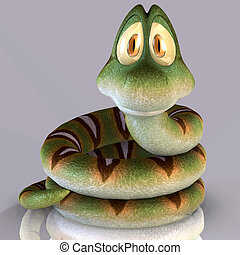 This little Toon Snake #01