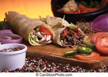 mexican burrito - this meat an chicken mexican burrito with...
