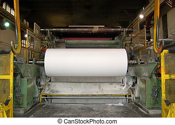 This paper mill is a factory devoted to making paper and cardboard from recycled paper using this Fourdrinier Machine. Paper and pulp mill - Factory, Plant