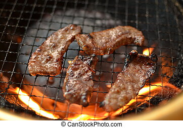 Korean cuisine called YAKINIKU - This picture is a Korean...
