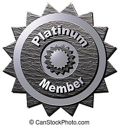 """This platinum seal with similar stars declaring """"Platinum Member"""" can be used on the www or any promotional material for Platinum Membership."""