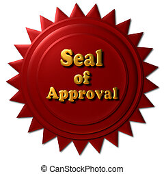Seal of Approval - This red seal with gold letters declaring...