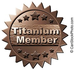 This seal declaring Titanium Membership can be used for the www as well as on other marketing material