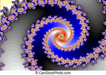 Mandelbrot set (fractal) - This section of the Mandelbrot ...