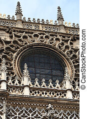 Seville Cathedral - This shows some of the detail of the ...