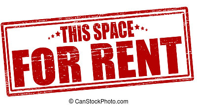 This space for rent - Stamp with text this space for rent...