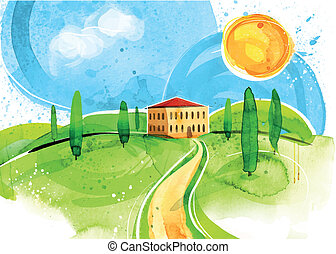 Tuscany Painting - This Tuscany Painting was created on...
