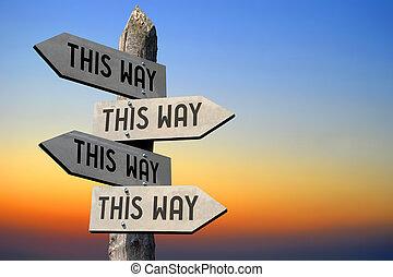 This way signpost