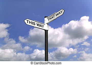 This Way That Way Which way to turn - Signpost saying This...