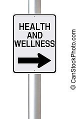 This Way to Health and Wellness - A modified one way street...