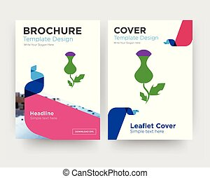 thistle brochure flyer design template