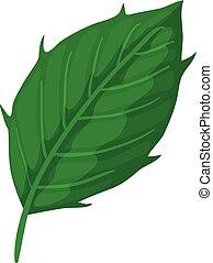Thistle leaf icon, cartoon style
