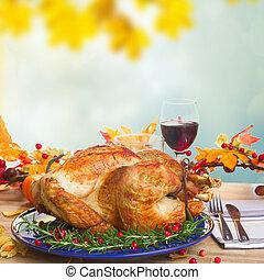 Thnaksgiving plate with turkey