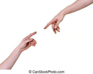tho, conectando, braços