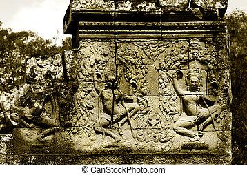 thom,  angkor