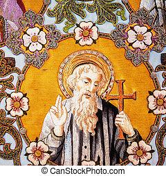 thomas, 古い, 使徒, 刺しゅうされた, 聖者, 宗教 アイコン