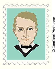 Thomas Alva Edison famous American inventor and businessman...