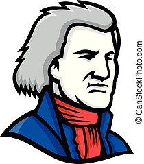 thomas-jefferson-head-side-MASCOT - Mascot icon illustration...