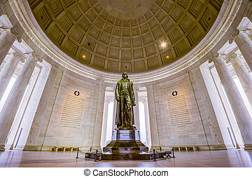 Washington, DC at the Jefferson Memorial.