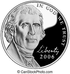 Thomas Jefferson Nickel - United States or American Nickel...