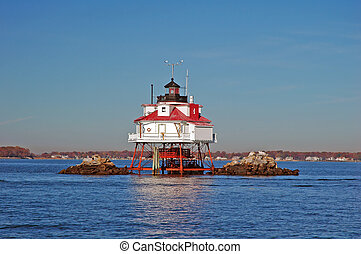 Thomas Point Light, Chesapeake Bay, Near Annapolis, Maryland