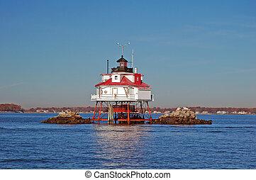 Thomas Point Light, Chesapeake Bay, Near Annapolis, Maryland