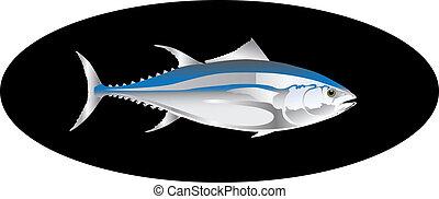 thon, vecteur, fish