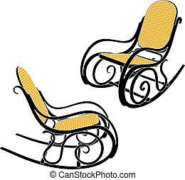 thonet, fauteuil bascule