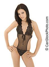 Thong - A beautiful caucasian woman wearing a very sexy...