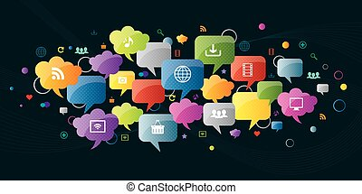 Thought bubble and communication in social media and ...