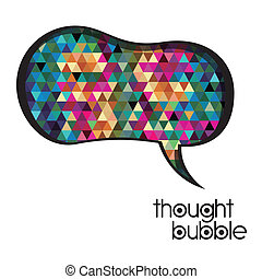 thought bubble over white background vector illustration
