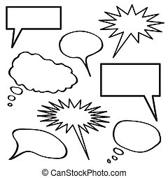 Thought Bubble Collection - A collection of blank thought...
