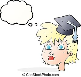 thought bublat, karikatura, absolvent, manželka