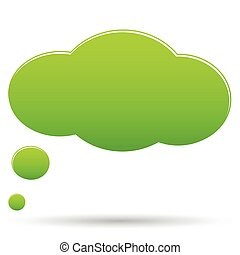 Thought cloud bubble - Vector green thought cloud bubble...