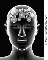 Thought process - Conceptual image - thought process. 3d